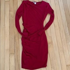 Ruched mid-length dress